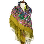 Медовый полдень 1724-2, павлопосадский платок шерстяной  с шелковой бахромой, фото 3