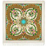 Слова любви 1688-2, павлопосадский платок шерстяной  с шелковой бахромой, фото 2