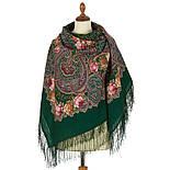 Торжество лета 1694-9, павлопосадский платок шерстяной  с шелковой бахромой, фото 3