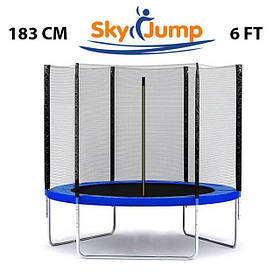 Батут SkyJump 6 фт., 183 см із захисною сіткою - Найкраща ціна!