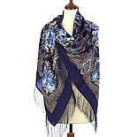 Магия чувств 1629-14, павлопосадский платок шерстяной (двуниточная шерсть) с шелковой бахромой, фото 2