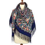 На крыльях нежности 1653-14, павлопосадский платок шерстяной (двуниточная шерсть) с шелковой бахромой, фото 2