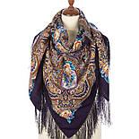 Русское раздолье 1619-15, павлопосадский платок шерстяной (двуниточная шерсть) с шелковой бахромой, фото 2