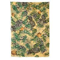 10235 палантин шерстяной 10235-2, павлопосадский шарф-палантин шерстяной (разреженная шерсть) с осыпкой, фото 1