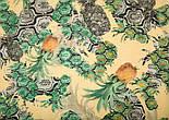 10235 палантин шерстяной 10235-2, павлопосадский шарф-палантин шерстяной (разреженная шерсть) с осыпкой, фото 3