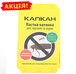 КАПКАН 15х6см клеевая ловушка-домик от тараканов