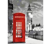 """Міський пейзаж """"Телефонна будка"""" 40*50см"""