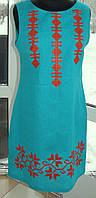 Платье без рукавов с геометрическим рисунком