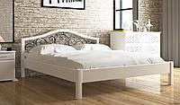 Кровать деревянная двуспальная Италия К с ковкой