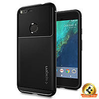 Чехол Spigen для Google Pixel XL Rugged Armor, Black, фото 1