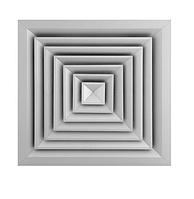 Дифузор алюмінієвий квадратний CD-S 375x375 ( підєднання 220х220 мм)