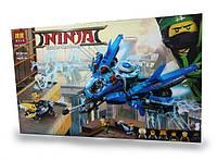 Конструктор Bela 10721 Ниндзяго Самолёт-молния Джея (аналог Lego Ninjago Movie 70614)