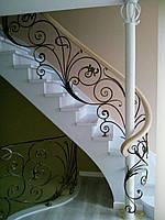 Классические кованые перила для лестниц