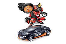 Машинка-трансформер на радиоуправлении JQ Troopers Savage TT663, машинка-робот Bugatti Veyron GT
