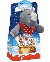 Новогодний набор сладостей Kinder Maxi Mix с мягкой игрушкой (Носорог) 133 г.