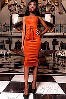 Элегантное женское кирпичное платье Бюстье Jadone  42-48 размеры