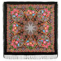 Медовый полдень 1724-18, павлопосадский платок шерстяной  с шелковой бахромой   Стандартный сорт, фото 1