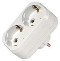 Электрический разветвитель на 2 гнезда c з/к 16А 250 В ST141-1
