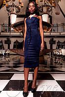 Элегантное женское темно-синее платье Бюстье Jadone  42-48 размеры