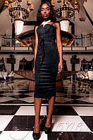 Элегантное женское черное платье Бюстье Jadone  42-48 размеры