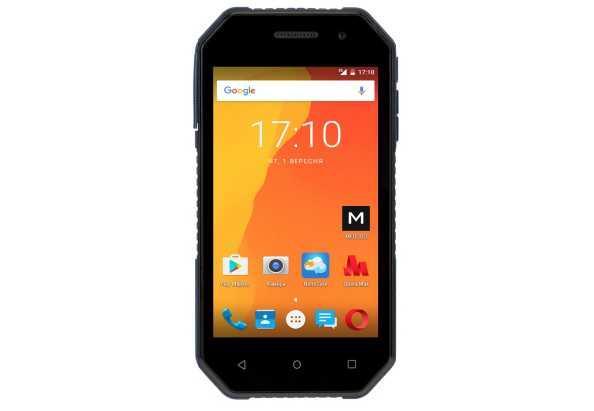 Защищенный смартфон на 2 сим карты 4 дюйма 4 ядра 1/16Gb Nomi i4070 Iron-M