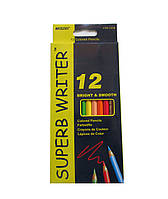 """Карандаши цветные MARCO 4100-12СВ """"Superb Writer"""" 12цветов 66444 Ч"""