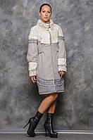 Пальто жіноче з хутром в 2х кольорах Марсель