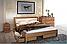 Кровать деревянная двуспальная Модерн М с мягким изголовьем, фото 9