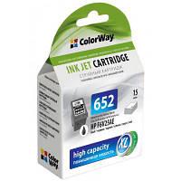 Картридж ColorWay HP №652 black (F6V25AE) ink level (CW-H652XLB-I)