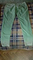 Женские вельветовые светлозеленые джинсы Max 18 размер новые