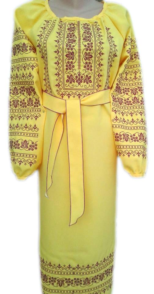"""Женское вышитое платье """"Магденс"""" PL-0024"""
