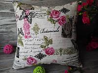 Подушка диванная малиновые розы,  35 см * 35 см