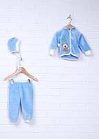 Детский махровый комплект с вышивкой на кнопках