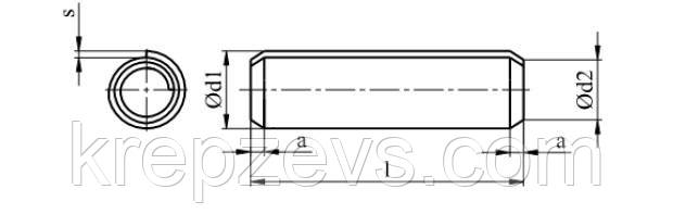 Схема штифта ISO 8750