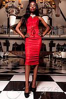 Элегантное женское красное платье Бюстье Jadone  42-48 размеры