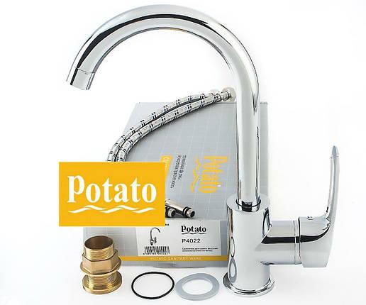 Смеситель на кухню POTATO P4022, фото 2
