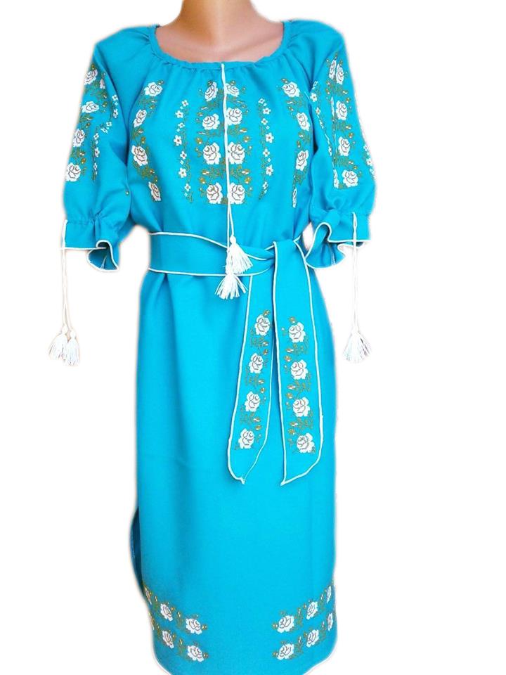"Жіноче вишите плаття ""Еліка"" (Женское вышитое платье ""Еліка"") PL-0025"