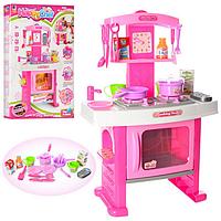 Кухня плита, духовка, посуда,часы,телефон,звук,свет на батарейках.Игровой набор кухня. .