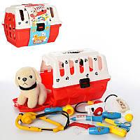 Игровой наборс собачкой - Доктор Ветеринар, 9предметов, в чемодане 26,5-21,5-21 см,231