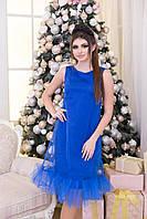 Прекрасное коктейльное платье с отделкой из фатина