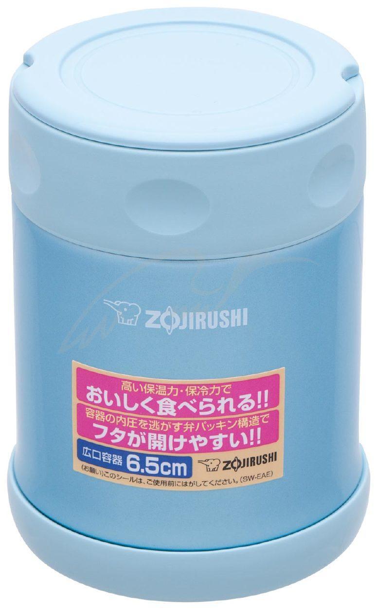 Пищевой термоконтейнер ZOJIRUSHI SW-EAE35AB 0.35 л ц:голубой металлик (1678.00.71 )