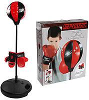 Детская боксерская груша с перчатками на стойке 143881/1, фото 1