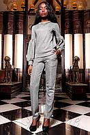 Женский серый костюм Силини Jadone Fashion 42-48 размеры