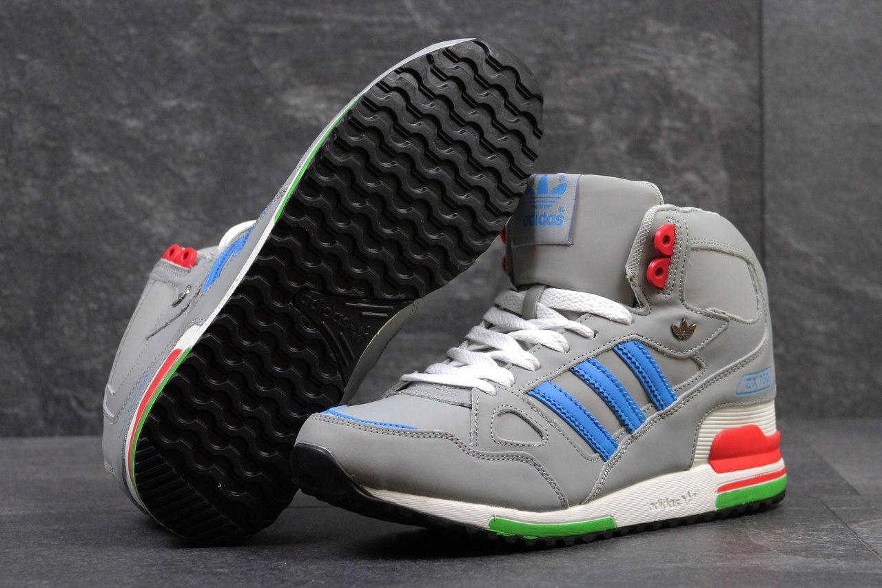 Ботинки Adidas мужские зимние (серые), ТОП-реплика