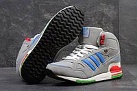 Ботинки Adidas мужские зимние (серые), ТОП-реплика, фото 1