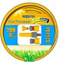 Шланг в наборе соединителями и наконечником  Hozelock Flexi Plus 12,5 мм х 20м.
