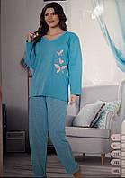 Женская теплая пижама большого размера Турция 957