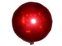 Воздушные шарики оптом. Шарик фольгированный красный диаметр 45см.