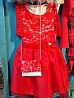 Нарядное платье с гипюром для девочки