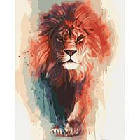 """Картины раскраски по номерам """"Король саванны"""" набор для творчества"""